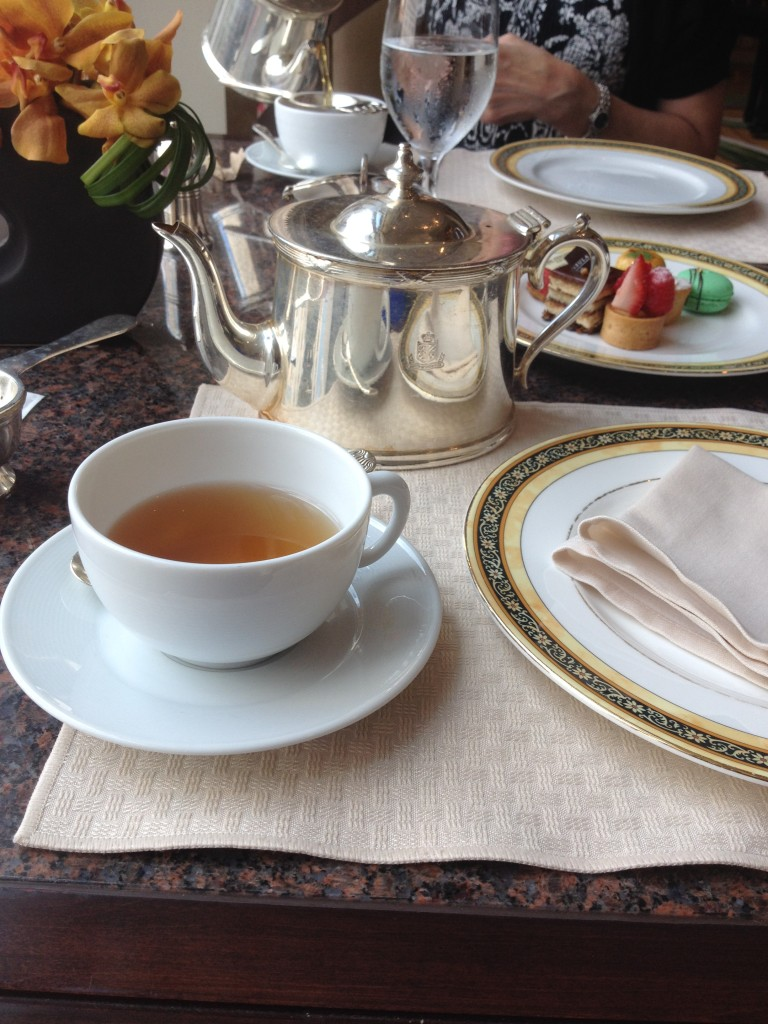 Lovely afternoon tea at the Peninsula Hotel Chicago.
