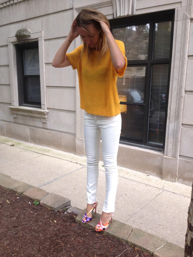 Love white jeans. They always make a fresh statement.