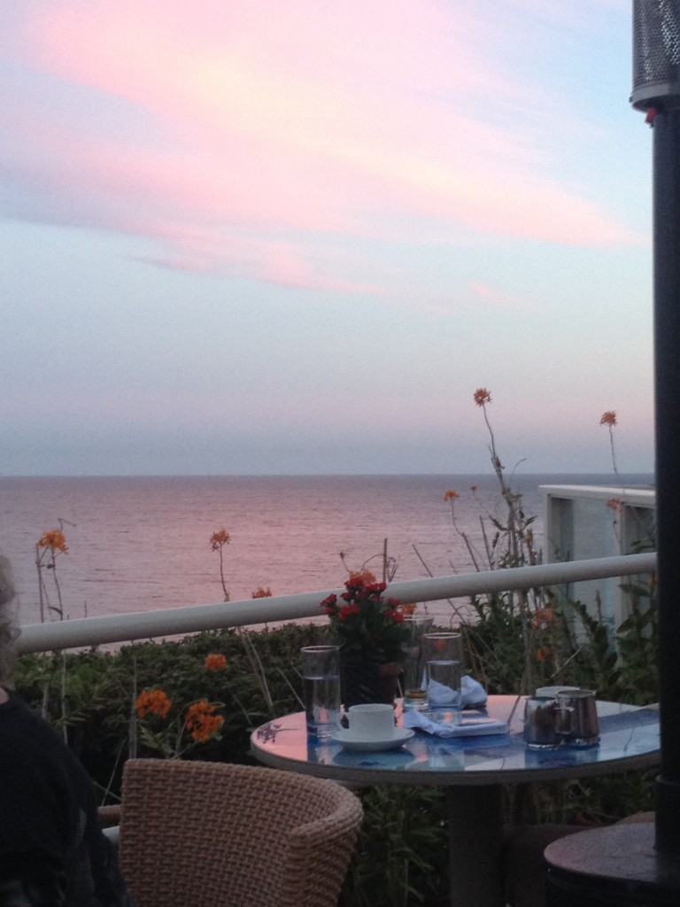 Sunset dinner in Malibu at Geoffrey's. <3