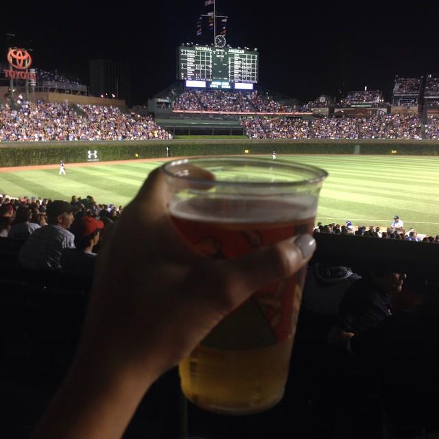 Ol ball game ⚾️⚾️ ⚾️ thanks @nataliehinman ? #cubs #chicago
