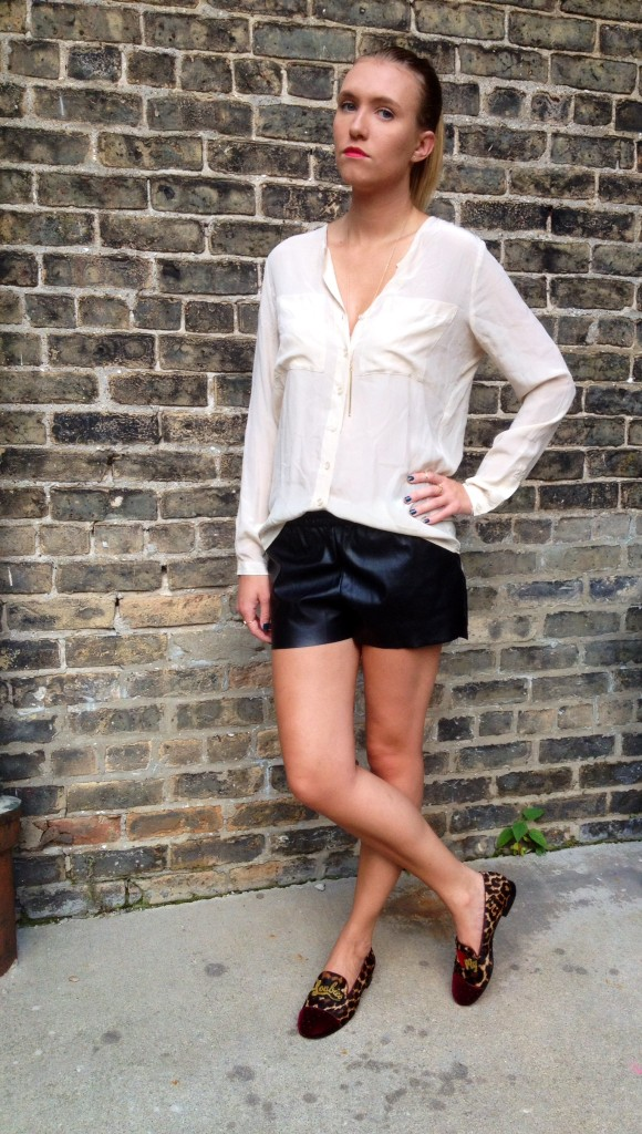 Top: Urban Outfitters; Shorts: H&M; Shoes: Louboutins.
