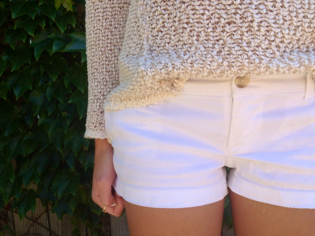 I know it's technically fall -- but I can't put these white shorts away yet.
