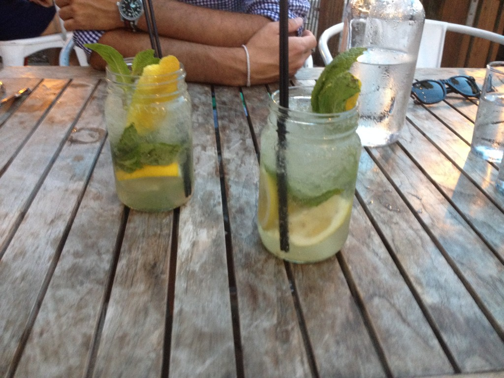 Matching summer drinks at Carriage House Chicago.