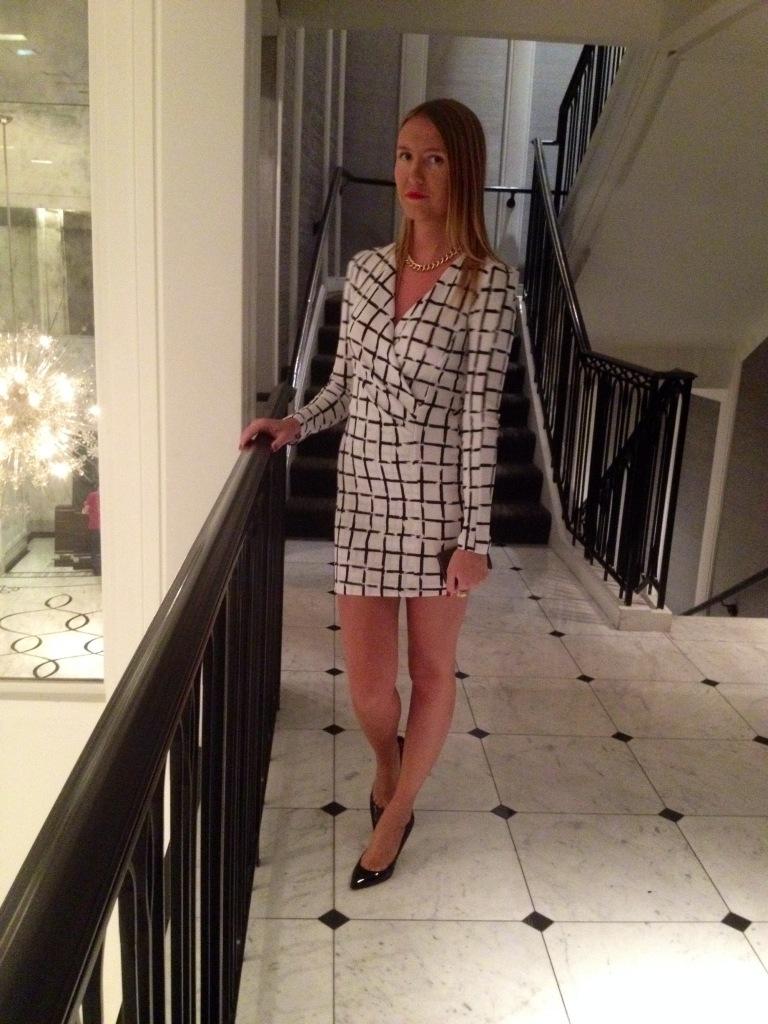Dress: Akira Chicago; Necklace H&M; Shoes: Louboutin.