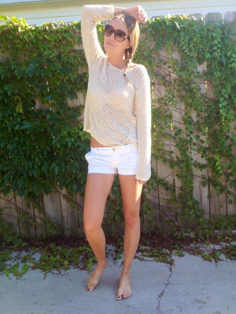Sweater: Vintage Havana; Shorts: Abercrombie.