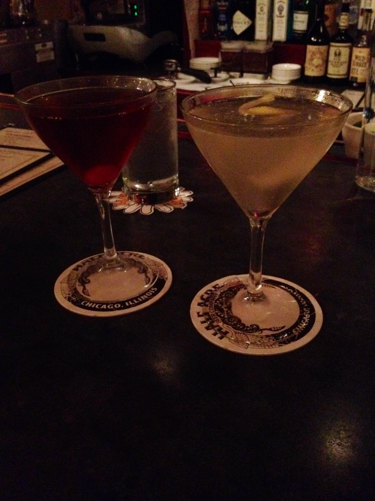 Date night drinks at Le Bouchon Chicago.