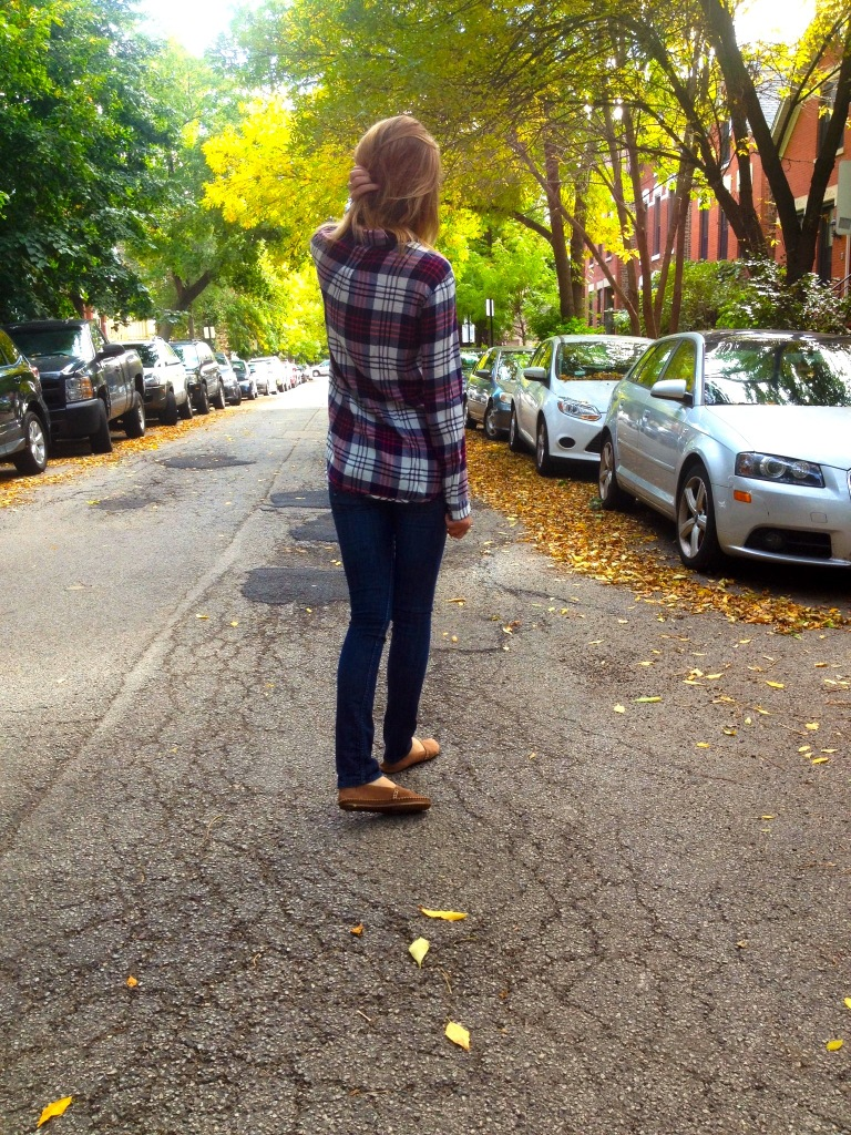 A great plaid top is a must for fall.