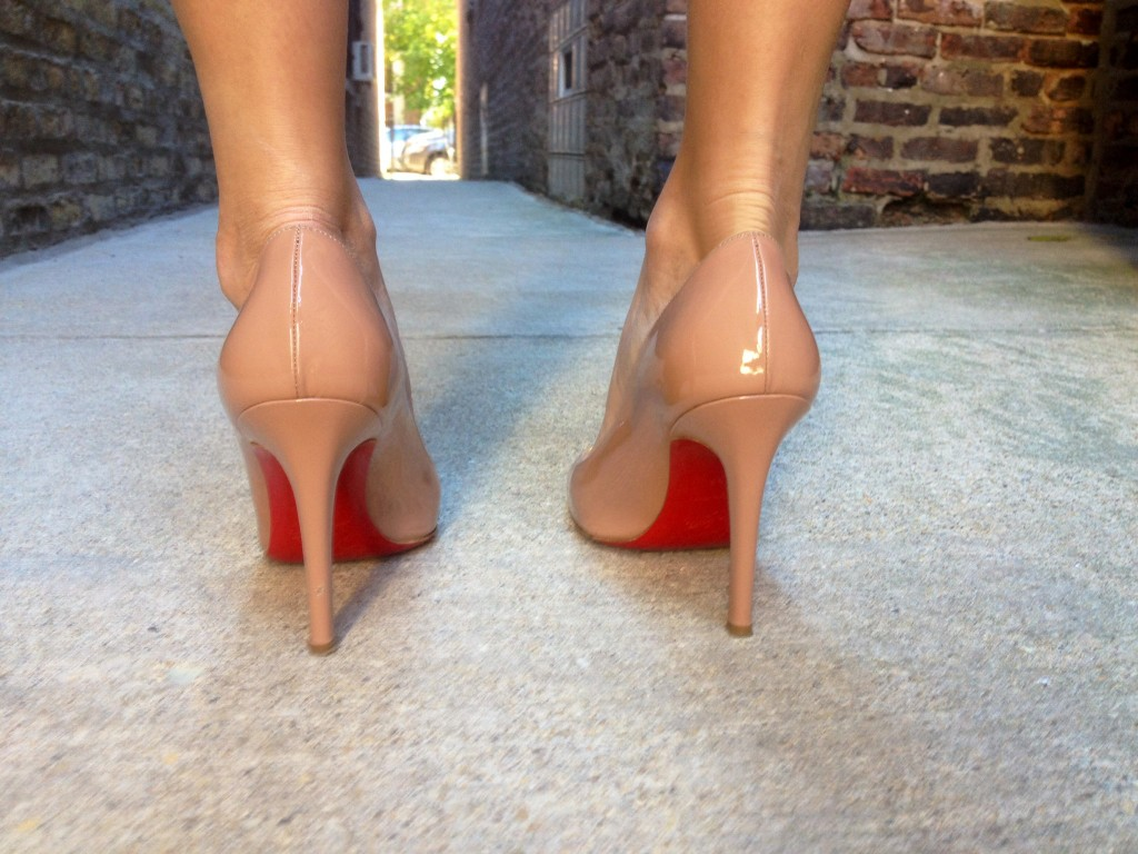Love a classic, nude Louboutin.