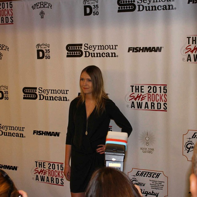 Red carpet life. So honored to be a part of the #SheRocksAwards last night. ?? @the_wimn