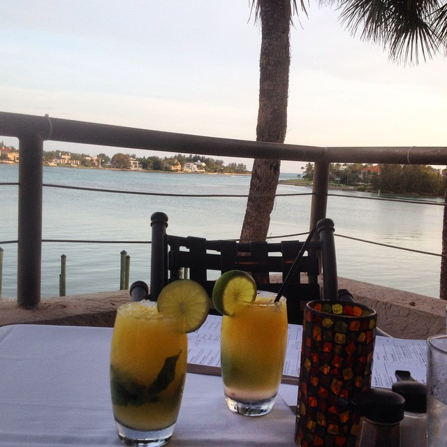 Mojitos for two with a view. ??#longboatkey #florida